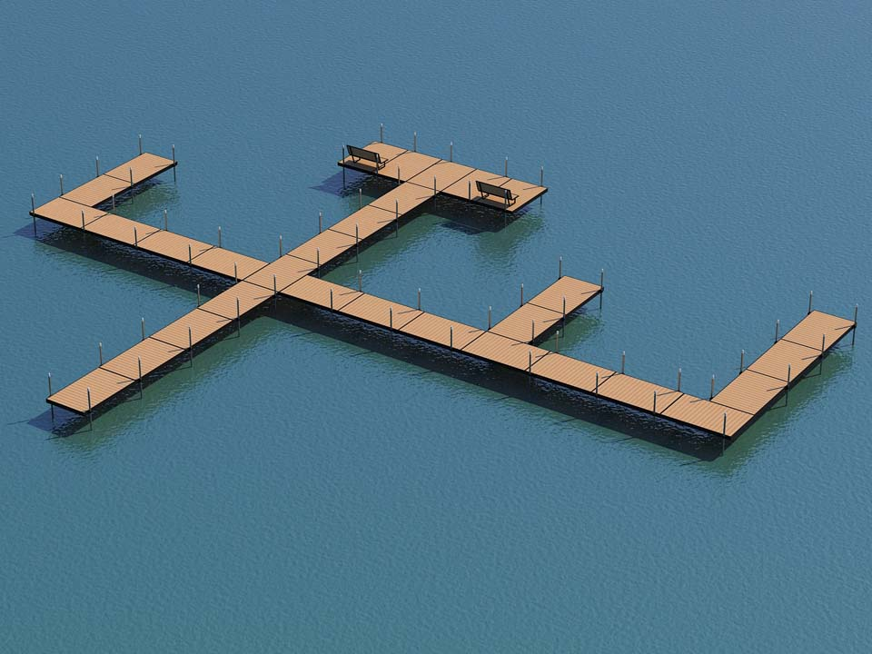 donaldson docks aluminum DIY boat dock layout