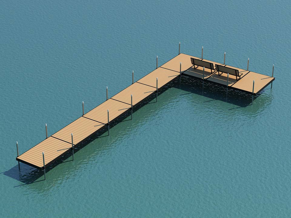 donaldson docks aluminum DIY boat dock layout design